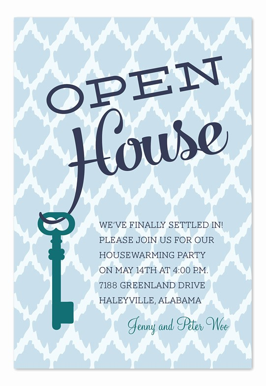 Open Office Birthday Card Template New Open House Key Party Invitations by Invitation