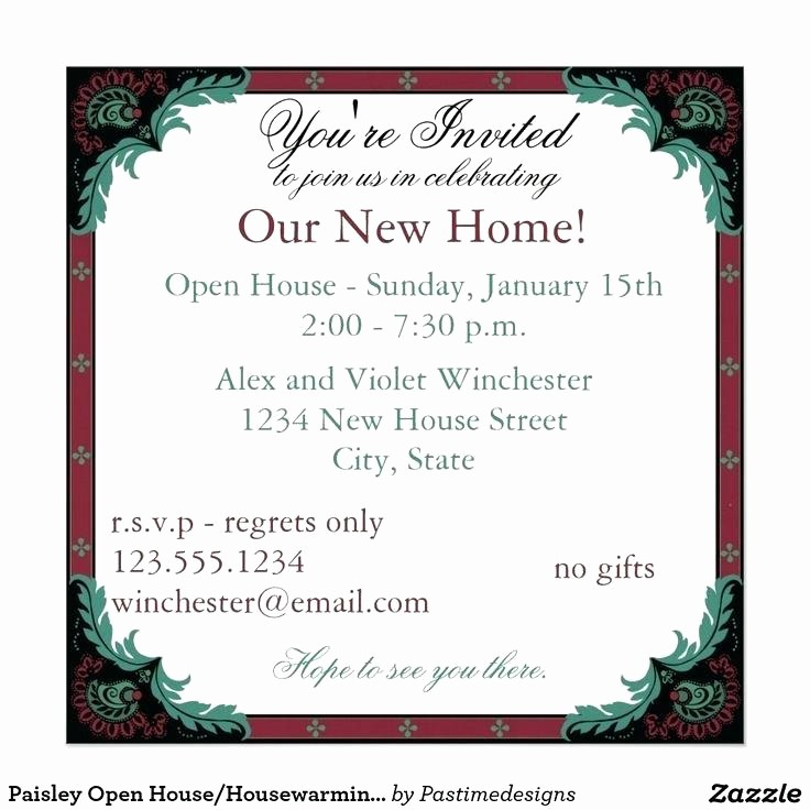 Open Office Birthday Card Template Unique Open House Invitation Wording Real Estate Open House