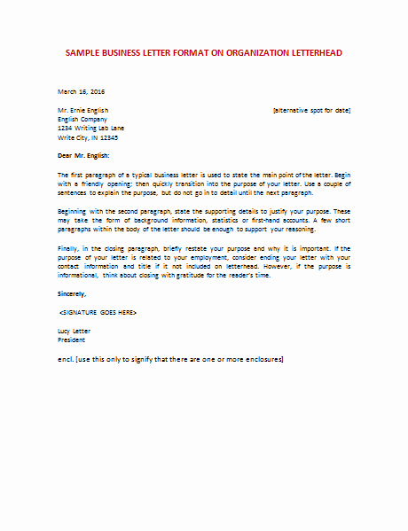 Open Office Business Letter Templates Beautiful 60 Business Letter Samples & Templates to format A