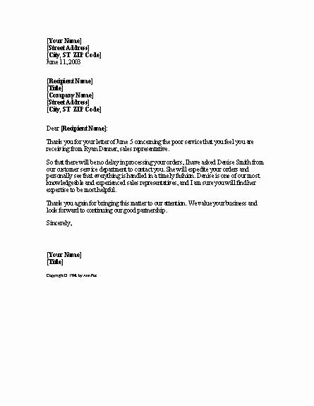 Open Office Business Letter Templates Unique Plaint Resolution Letter Templates