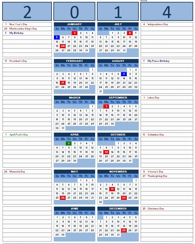 Open Office Calendar Template 2016 Awesome 2014 Monthly Calendar Excel 2010 Yearly Calendar
