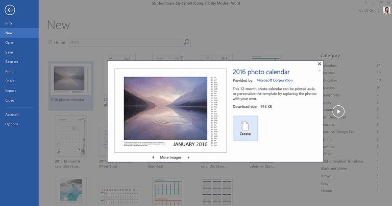 Open Office Calendar Template 2016 Best Of Customizable Calendar Templates for Microsoft Fice