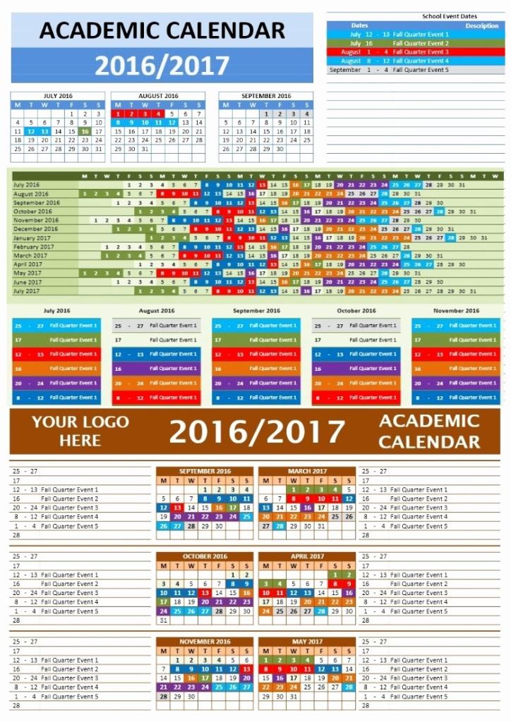 Open Office Calendar Template 2016 Fresh Free 2016 2017 School Calendars Template