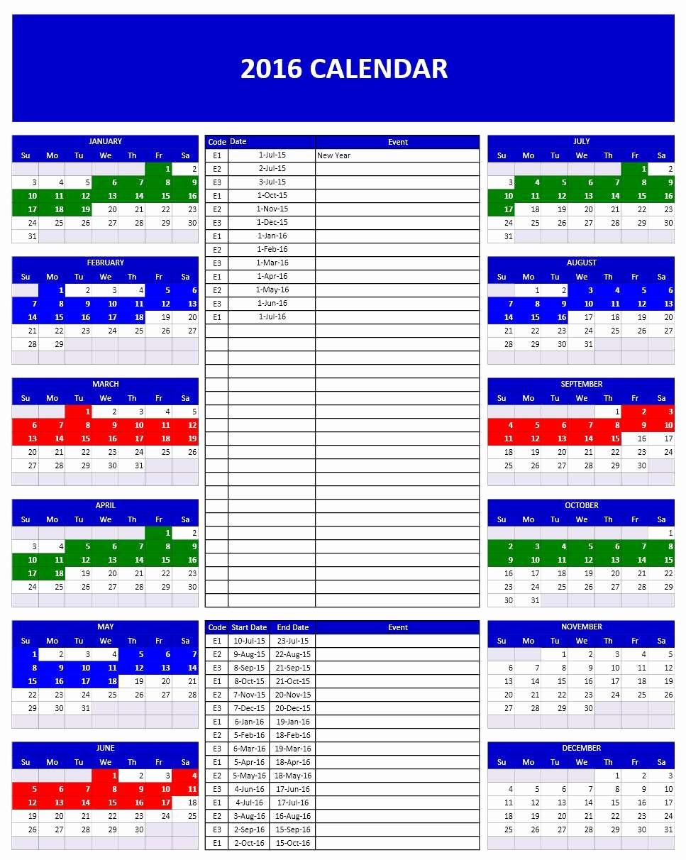 Open Office Calendar Template 2016 Luxury 2016 Calendar Templates