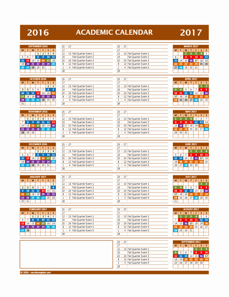 Open Office Calendar Template 2016 Unique School Calendar Template