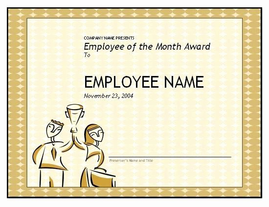 Open Office Certificate Templates Free Fresh Employee Award Templates Free – Superscripts