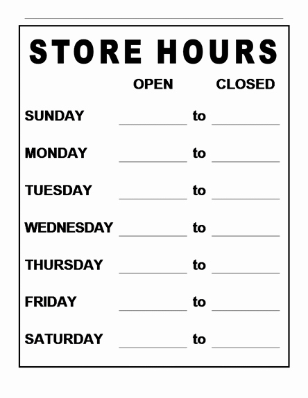Opening Hours Template Microsoft Word Awesome 5 Best Of Free Printable Word Signs Zodiac Word
