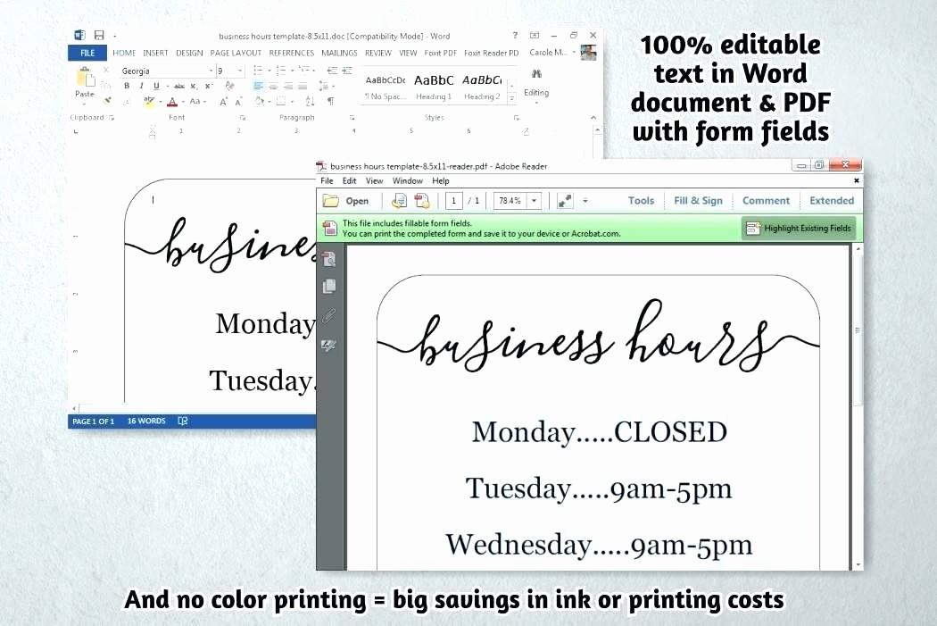 Opening Hours Template Microsoft Word Best Of Template Fice Hours Sign Template Opening Microsoft