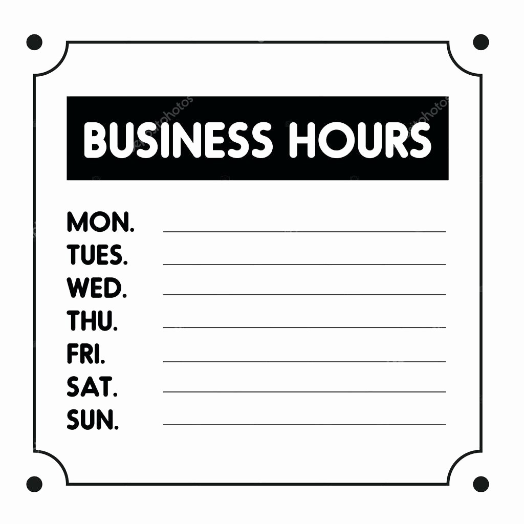 Opening Hours Template Microsoft Word Fresh Template Store Hours Sign Template Business Image source