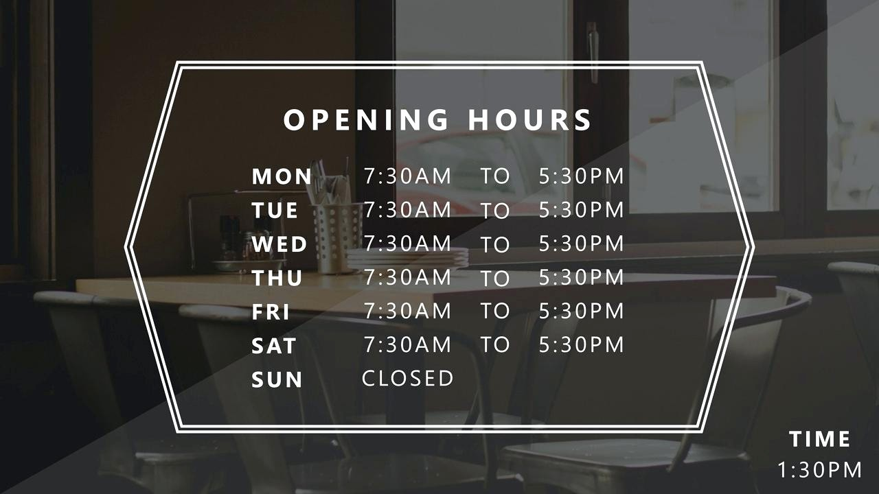 Opening Hours Template Microsoft Word Luxury Template Business Hour Template