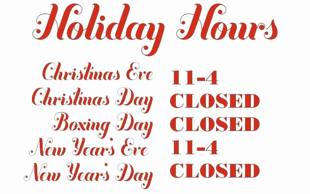 Opening Hours Template Microsoft Word Unique Closed for Holiday Sign Template theminecraftserver