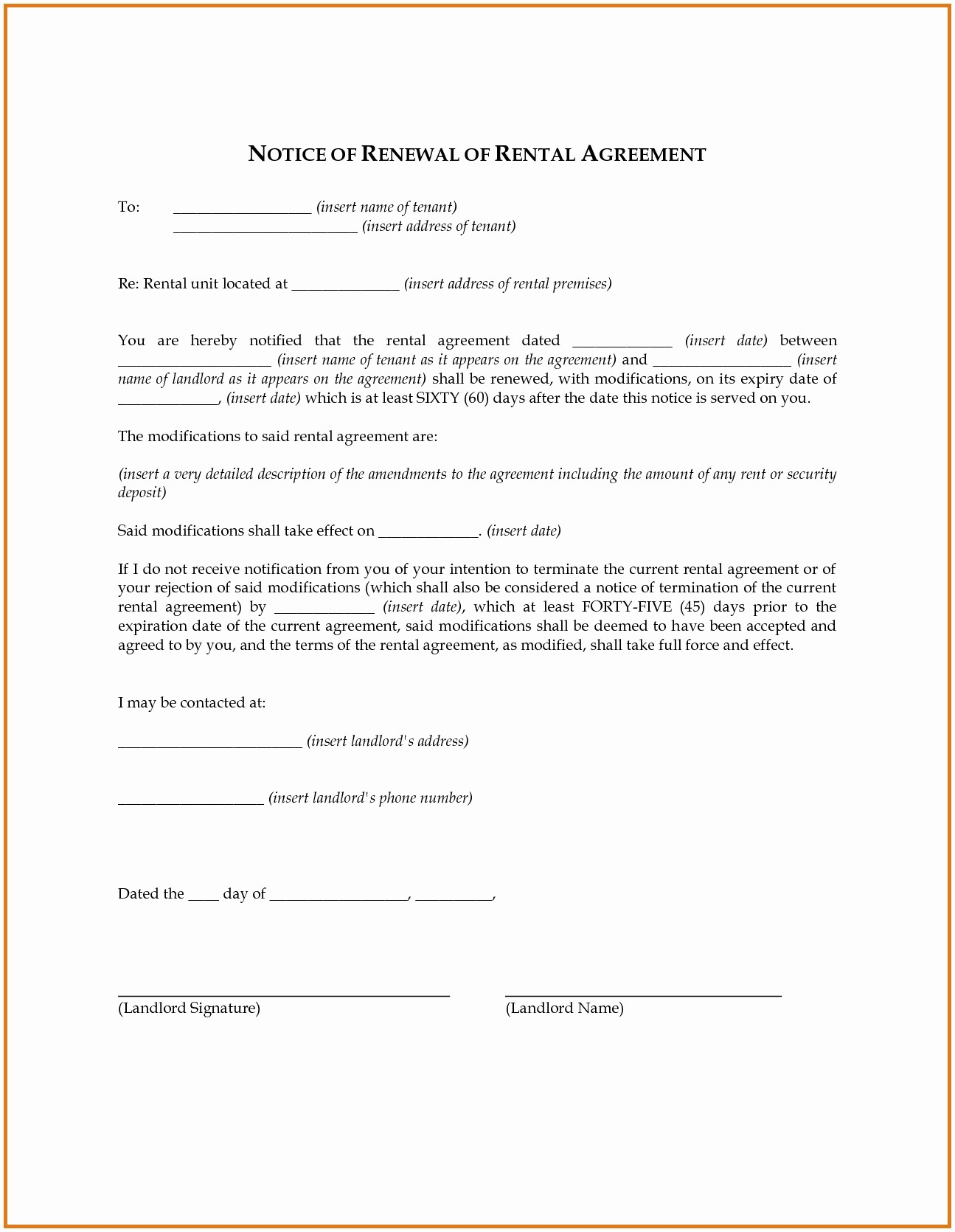 Option to Extend Lease Letter Elegant Lease Extension Letter Template Examples
