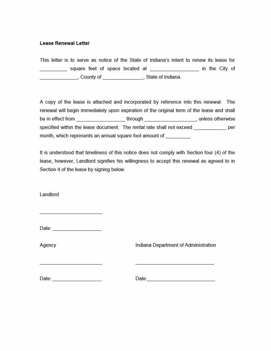 Option to Extend Lease Letter Inspirational 36 Best Lease Renewal Letters & forms Word & Pdf