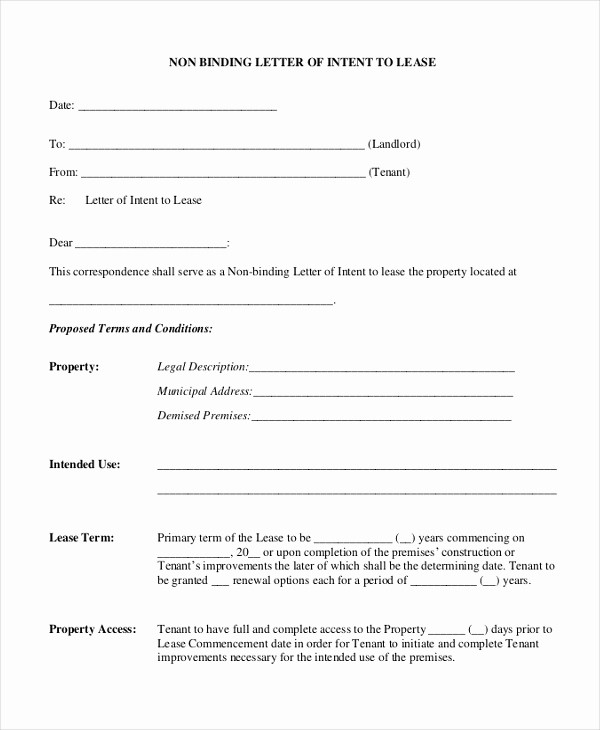 Option to Extend Lease Letter Luxury Letter Of Intent Lease How to Write Better Essays 6