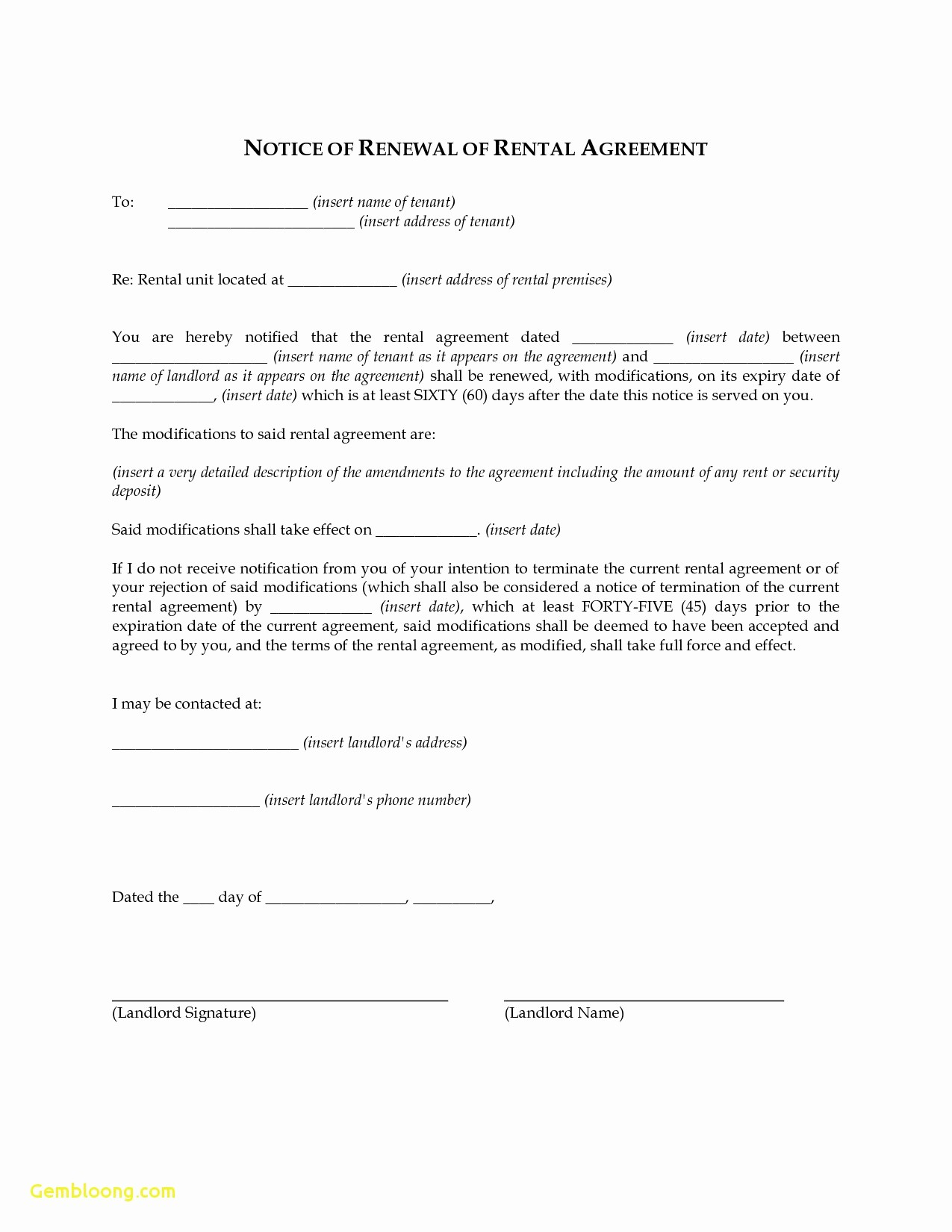 Option to Renew Lease form Inspirational Not Renewing Apartment Lease Template Latest