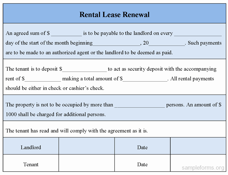 Option to Renew Lease form Lovely Lease Renewal form Monpence