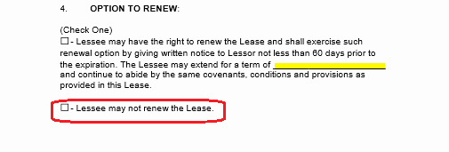 Option to Renew Lease form Unique Free Mercial Rental Lease Agreement Templates Pdf