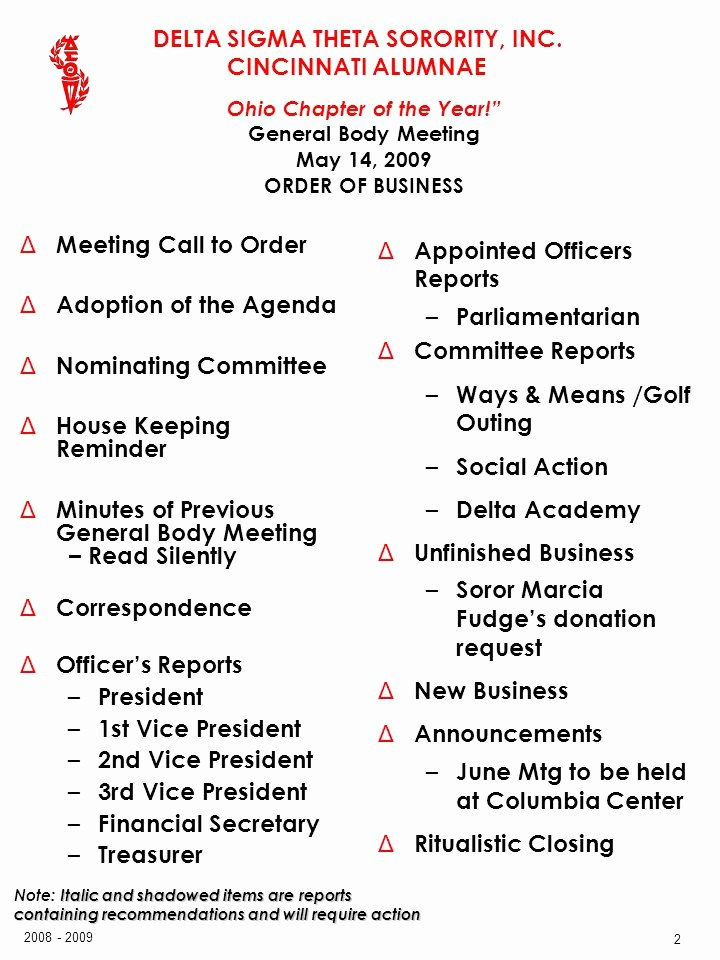 Order Of Business Meeting Agenda Awesome General Body Meeting May 14 Ppt