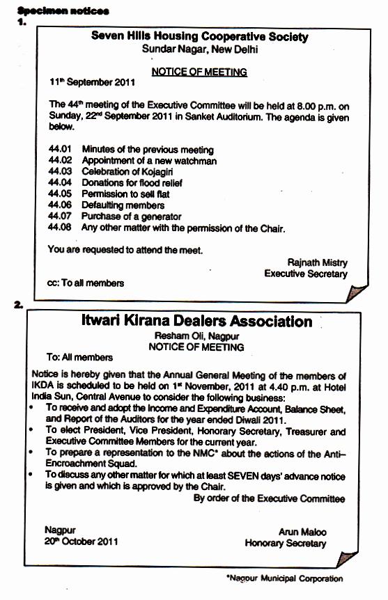 Order Of Business Meeting Agenda Elegant 3 Ponents Of A Business Meeting Notice Agenda and Minutes