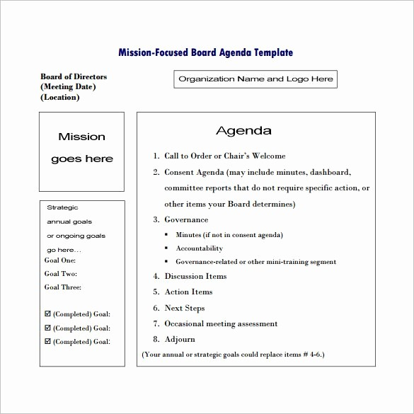 Order Of Business Meeting Agenda Elegant 9 Meeting Outline Template Doc Pdf