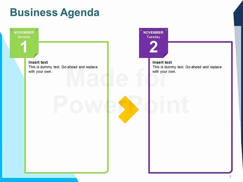 Order Of Business Meeting Agenda Lovely Business Agenda Editable Powerpoint Template