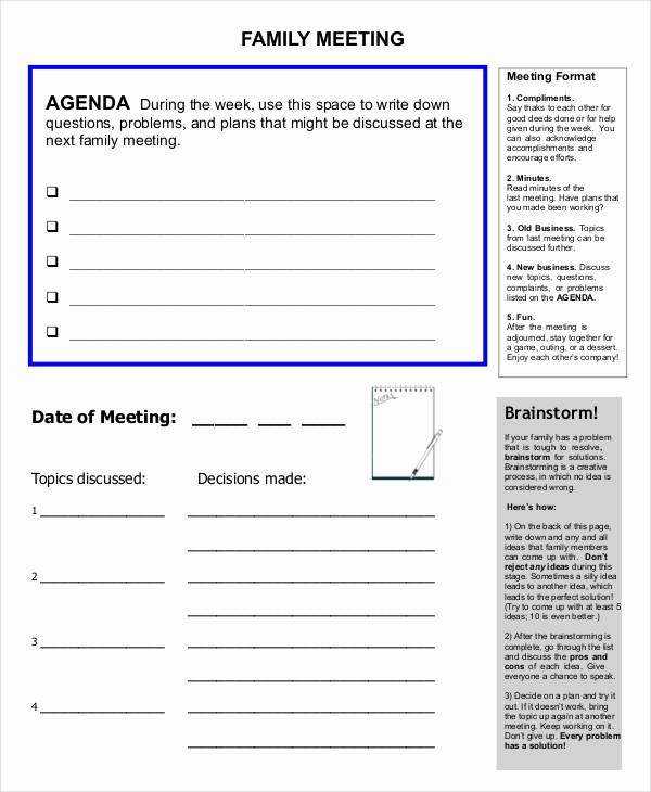 Order Of Business Meeting Agenda Luxury 59 Meeting Agenda Examples & Samples Doc Pdf