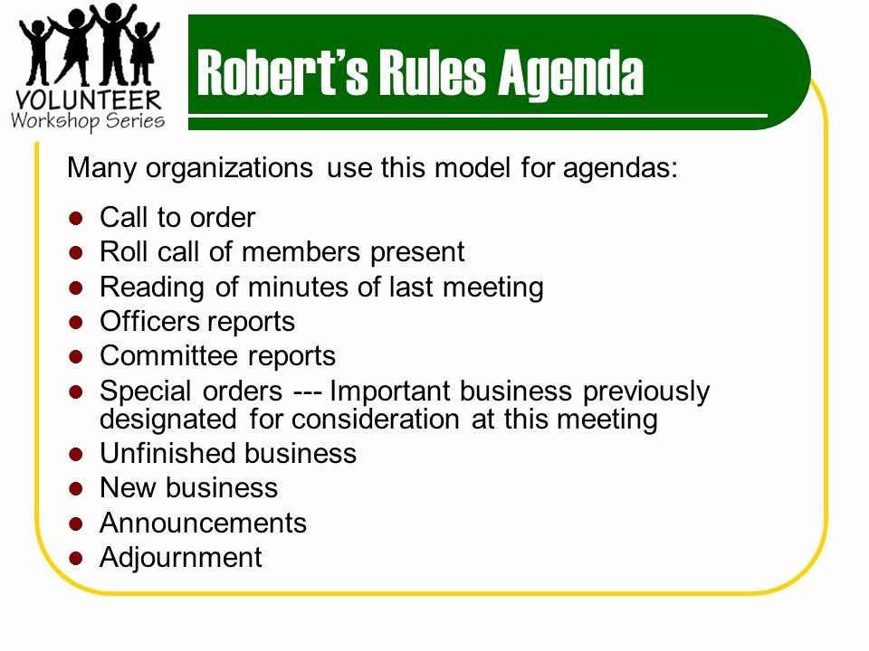 Order Of Business Meeting Agenda Unique Meetings that Work Effective Meeting Basics Ppt Video