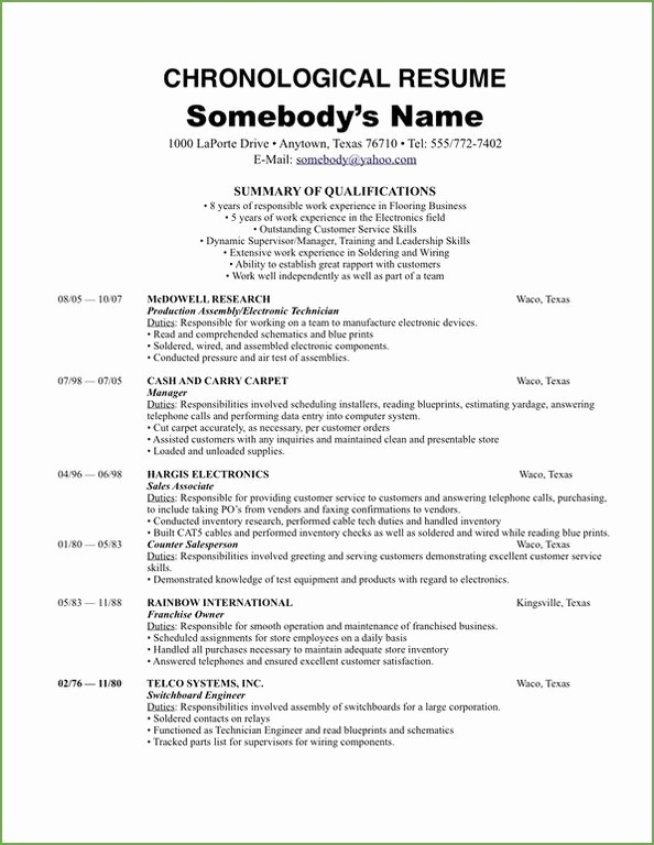 Origin Of the Word Resume Elegant Make A Chronological Resume Template 2018 Work for You
