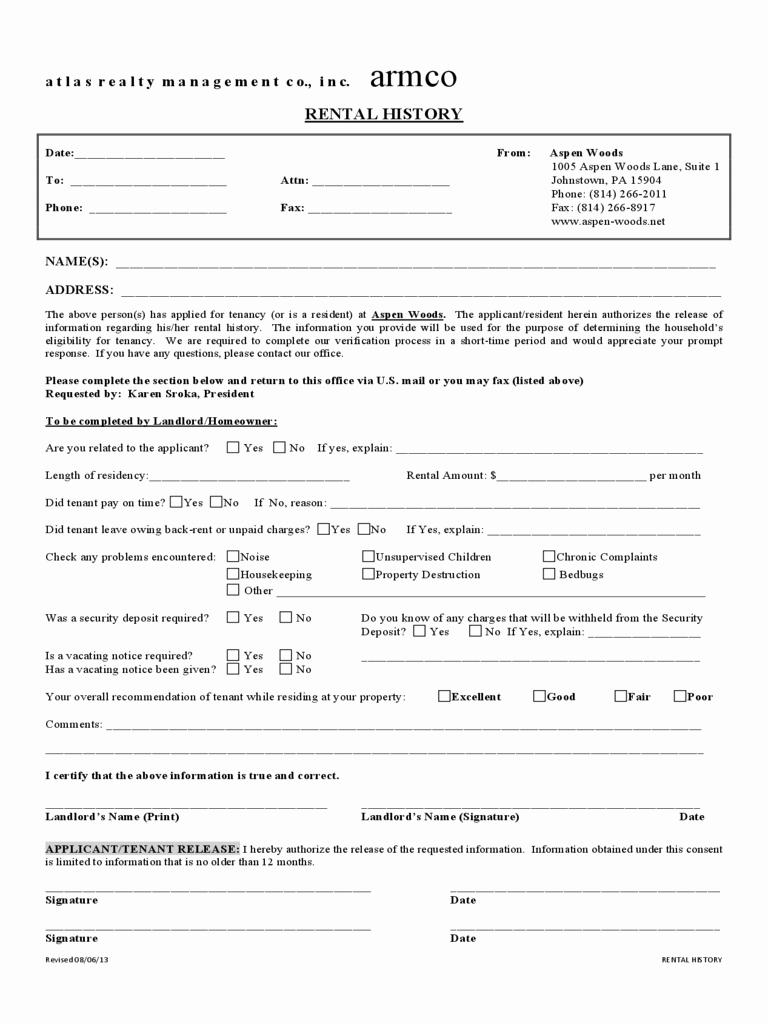 Origin Of the Word Resume Elegant Rental Verification form Resume Trakore Document Templates