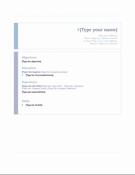 Origin Of the Word Resume Elegant Resume origin theme