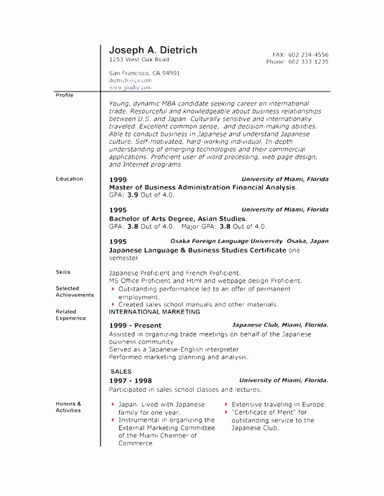 Origin Of the Word Resume Luxury 10 11 Chronological and Functional Resumes