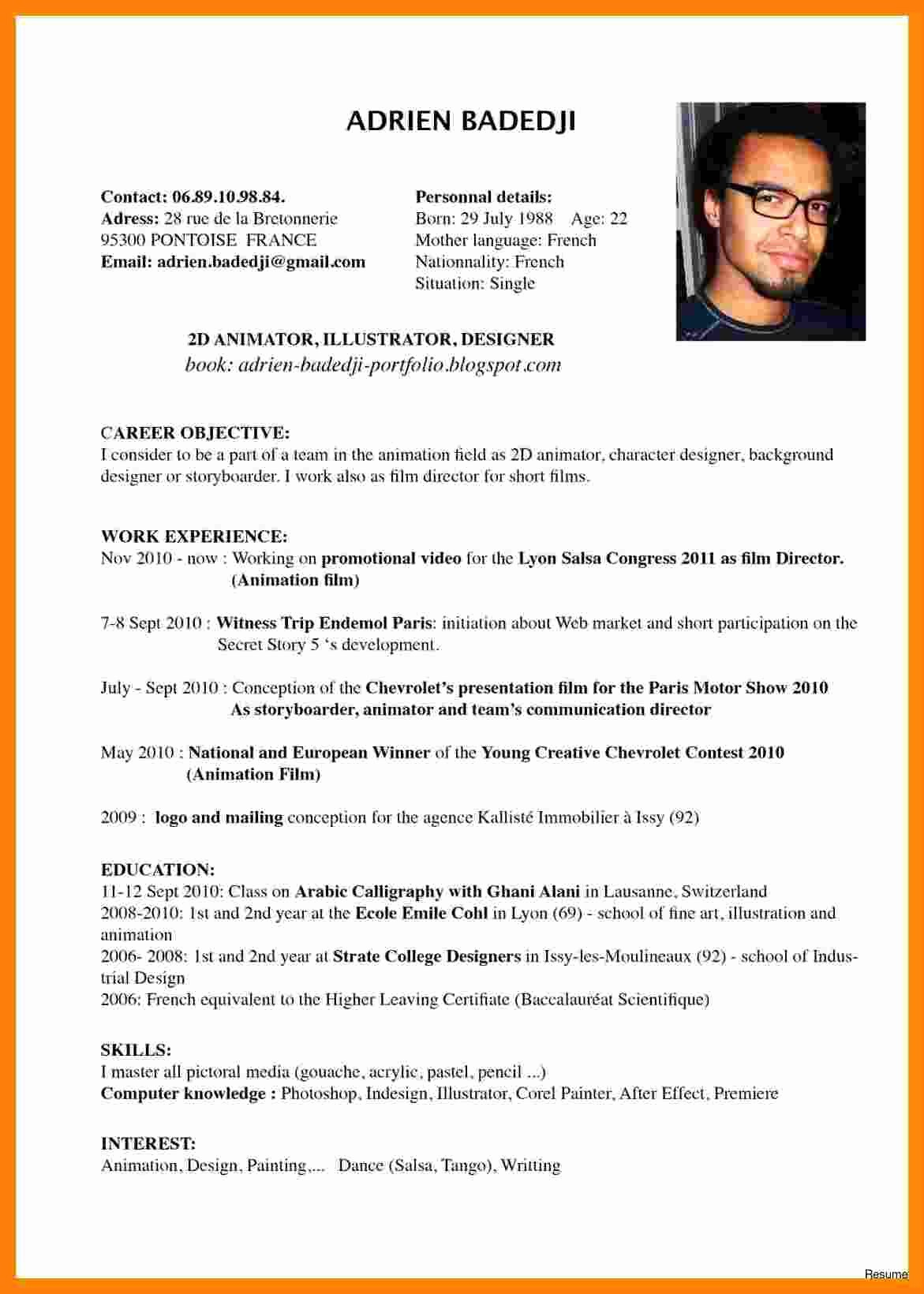 Origin Of the Word Resume New 5 Cv Meaning Sample