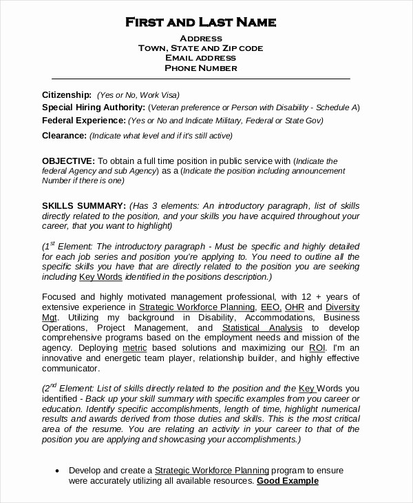 Origin Of the Word Resume New Federal Resume Template 8 Free Word Excel Pdf format