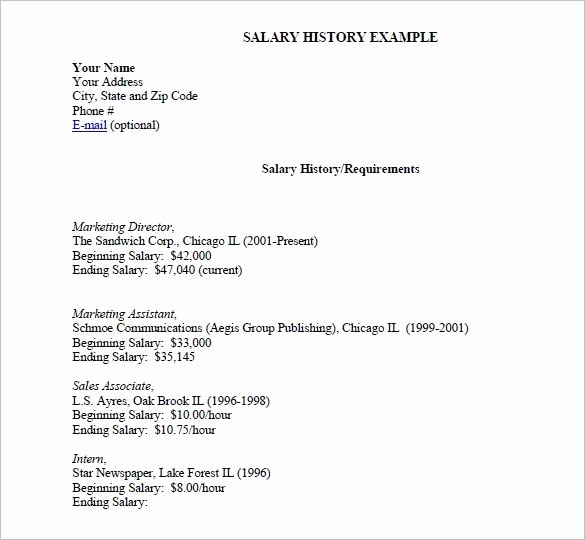 Origin Of the Word Resume New Salary History Resume Best Resume Collection