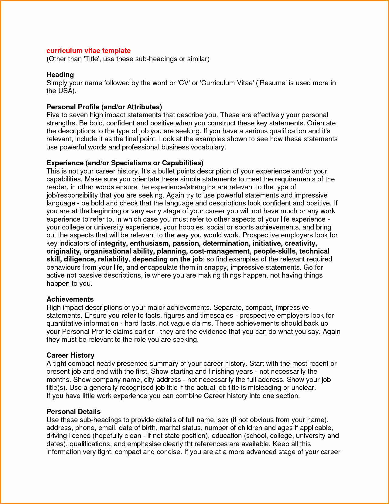 Origin Of the Word Resume Unique 7 Help with Cv Personal Profile
