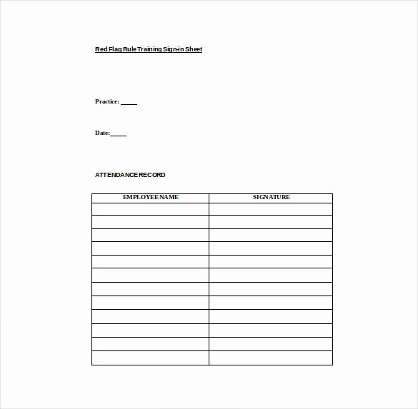 Osha Training Sign In Sheet Beautiful 18 Sign In Sheet Templates – Free Sample Example format