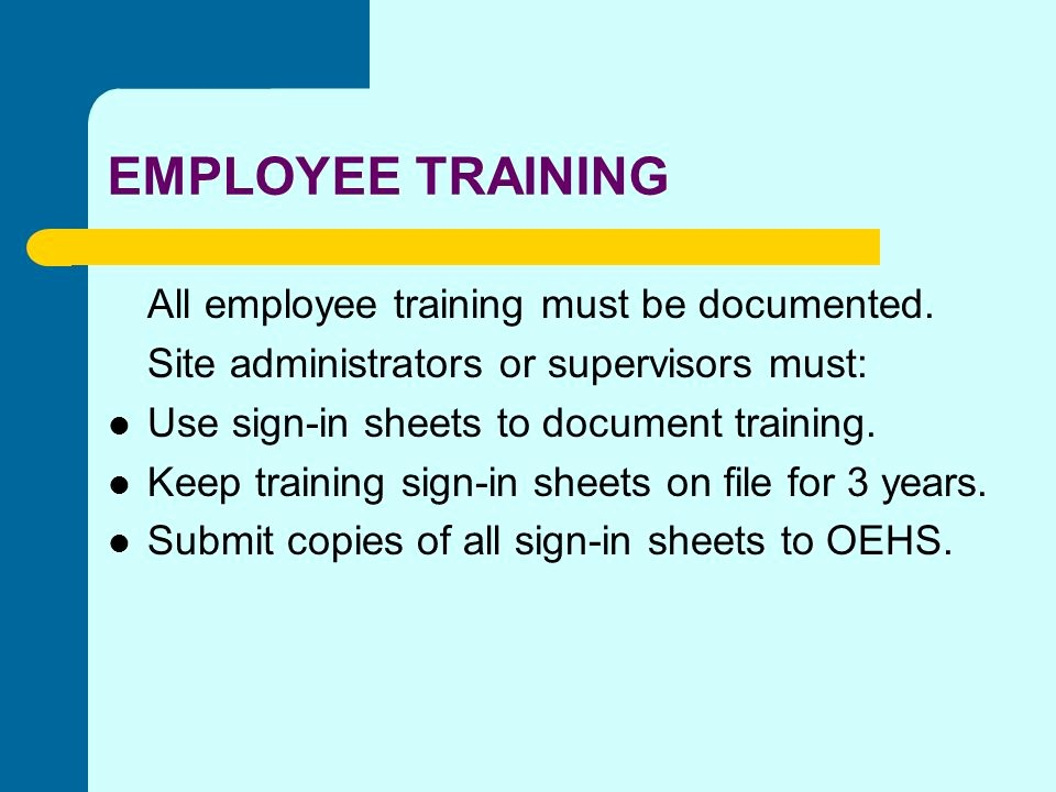 "Osha Training Sign In Sheet Elegant Employee ""right to Know"" Ppt"