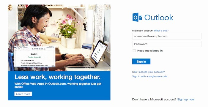 Outlook Com Mail Sign In New Outlook Login Outlook Line 365 Portal