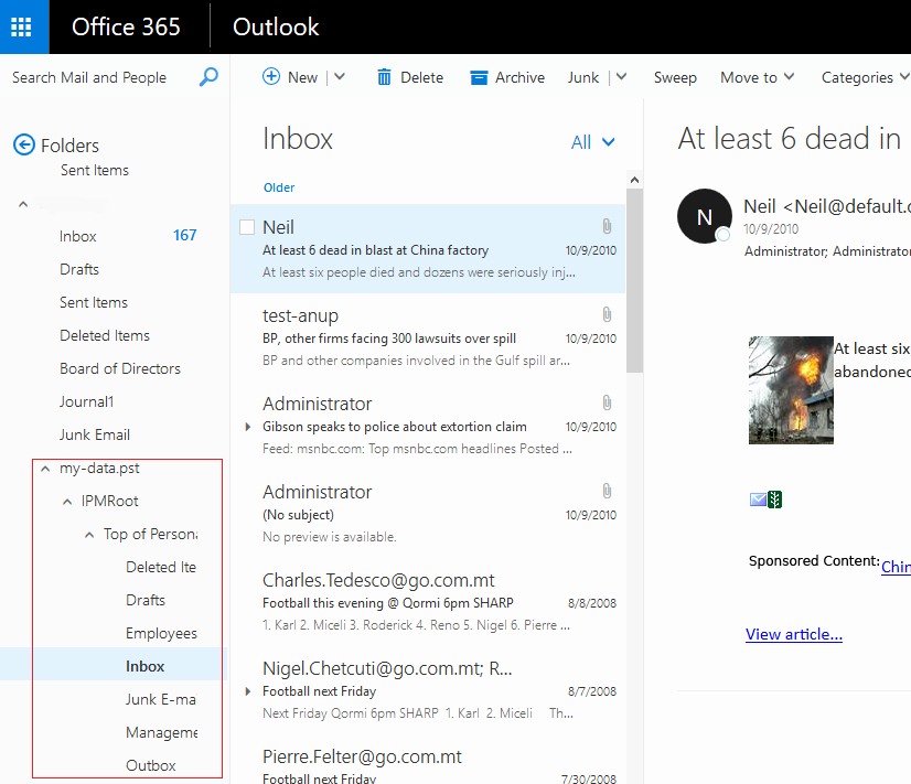 Outlook Office 365 Log In Awesome Know How to Import Outlook Pst File to Fice 365