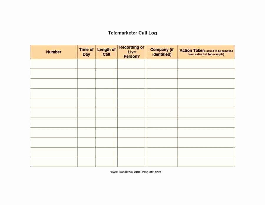 Outside Sales Call Log Template New Daily Sales Call Report Template In Excel 2 Activity