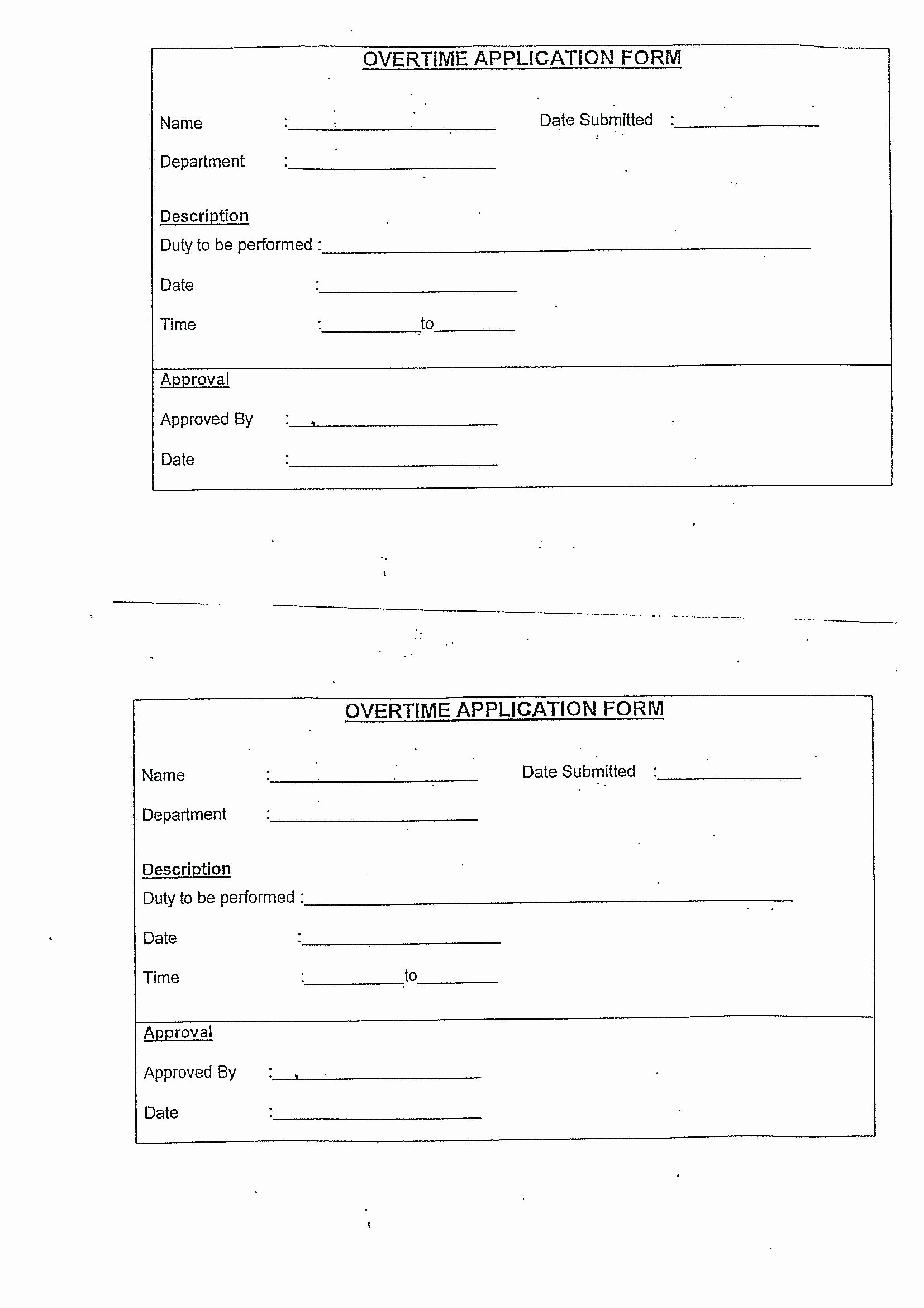 Overtime Sign Up Sheet Template Awesome Template Overtime forms Template