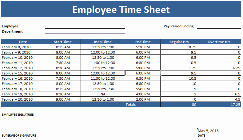Overtime Sign Up Sheet Template Best Of Employee Timesheet Template Weekly and Monthly