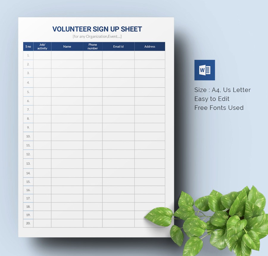 Overtime Sign Up Sheet Template Luxury Sign Up Sheets 64 Free Word Excel Pdf Documents