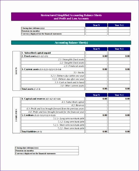 P and L Statement Template Fresh 6 P and L Template Excel Exceltemplates Exceltemplates
