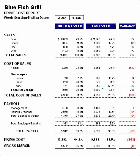P and L Statement Template Lovely 7 Restaurant Profit and Loss Statement Noplaceleftworld