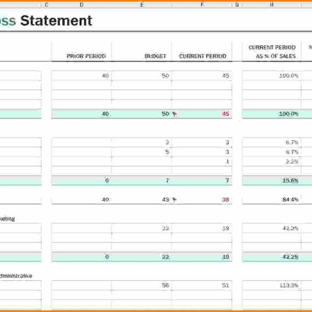 P and L Template Excel Fresh P and L Report Template Regarding Excel Expenses Template