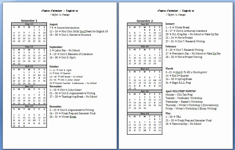 Pacing Calendar Template for Teachers Awesome Pacing Calendar Template for Teachers