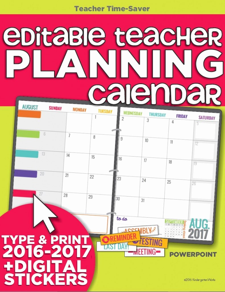 Pacing Calendar Template for Teachers Luxury Template Gallery Page 12