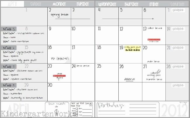 Pacing Calendar Template for Teachers New Unit Plan Calendar Template