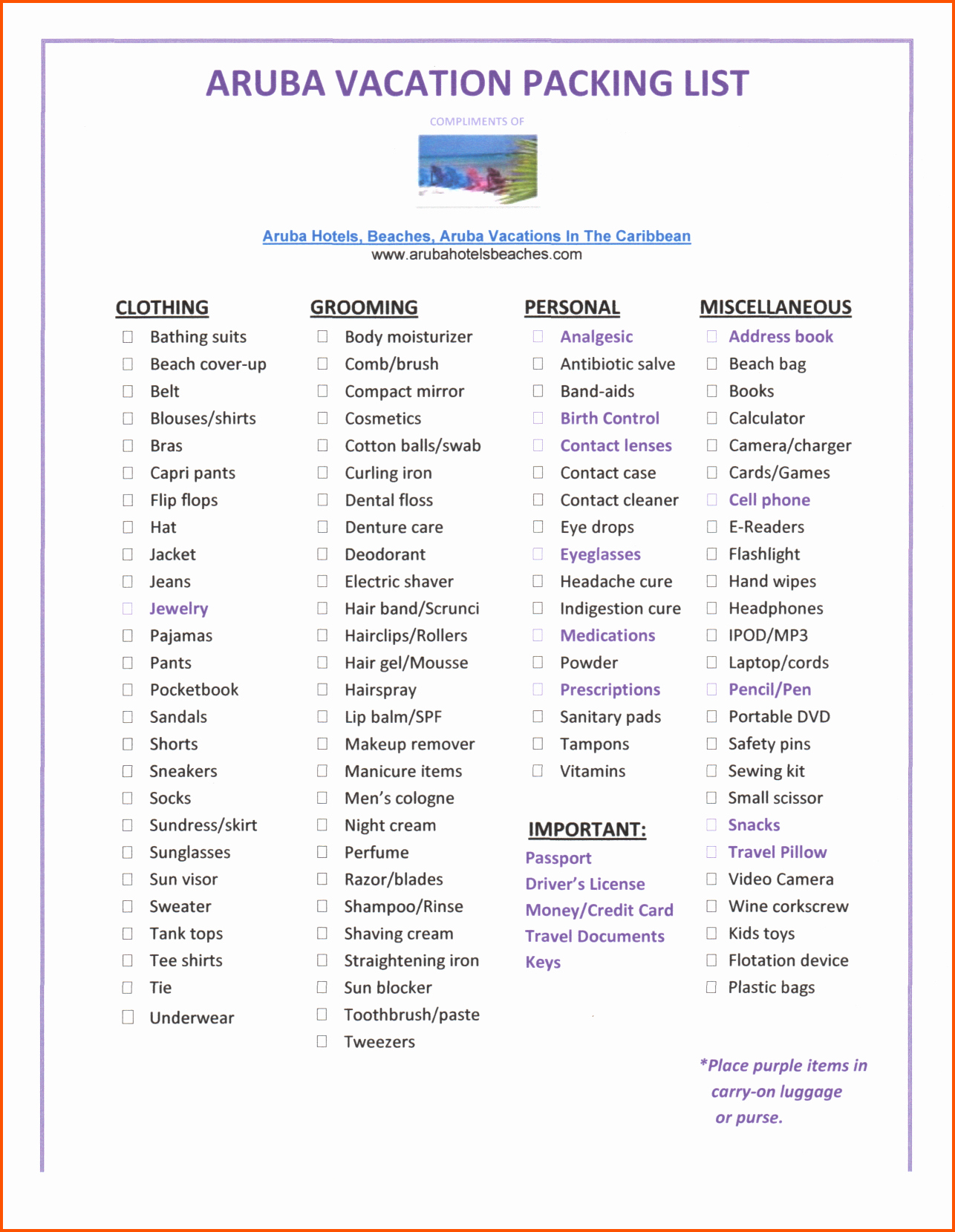 Packing List for Vacation Template Awesome Packing List Template Word Portablegasgrillweber